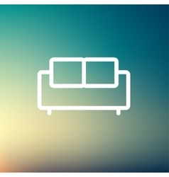 Furniture sofa thin line icon vector image