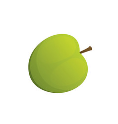 green apple fruit cartoon om vector image