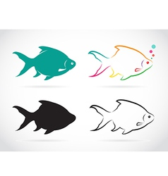 group fish vector image