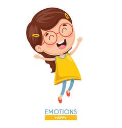 Happy kid emotion vector