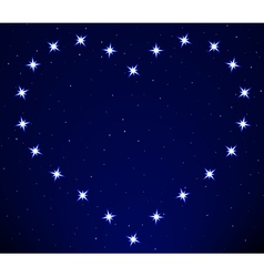 Heart constellation vector image
