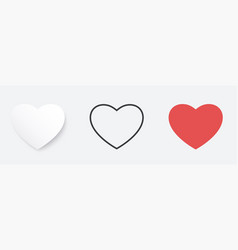heart symbol icon set for valentines day or any vector image