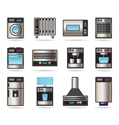 Household Appliances icons set vector