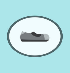 Icon in flat design fashion footwear man shoe vector