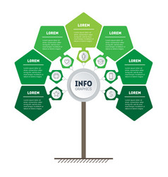 Infographic green technology or education vector