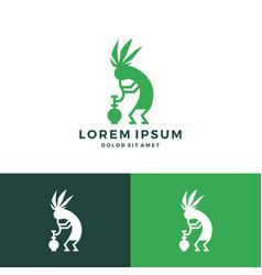 Kokopelli cannabis bong weed hemp logo download vector