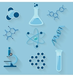 Laboratory workspace elements icons vector