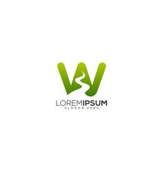 Letter w river logo design vector