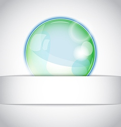 Magic ball background vector image vector image