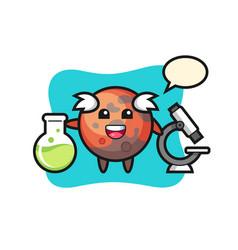 Mascot character mars as a scientist vector