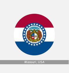 missouri round circle flag vector image