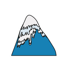 Mountain peak symbol vector