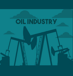 oil pump drilling in the field industry vector image