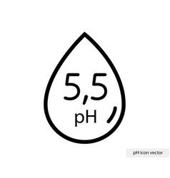 Ph icon with range 55 - neutral balance vector