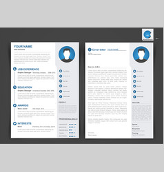 Professional cv resume template two pages vector