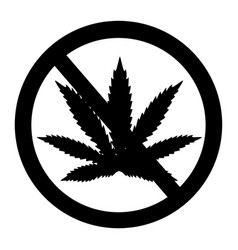 prohibition marijuana cannabis and hemp vector image