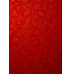 Red wallpaper with snowflakes vector image vector image