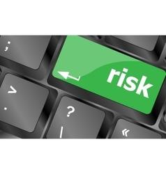 Risk management keyboard key showing business vector