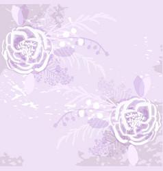 Rustic florals on violet background vector