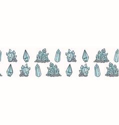 Sacred esoteric quartz crystal magic hand drawn vector