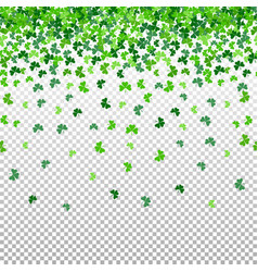 Seamless pattern with shamrock clover falling vector