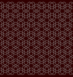 seamless symmetric geometric pattern as background vector image