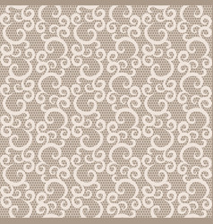 Seamless white lace vector