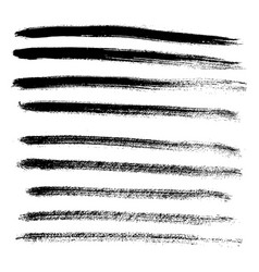 set of different grunge brush strokes and stains vector image