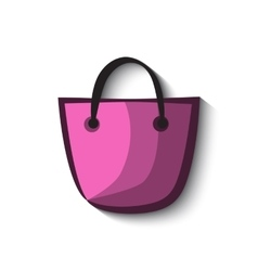 Shopping bag icon and vector image