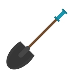 Shovel tool element camping blue les vector
