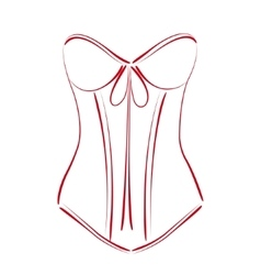 Sketched corset vector image