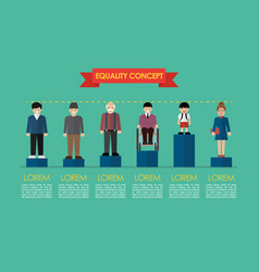 Social issue equality concept infographic vector