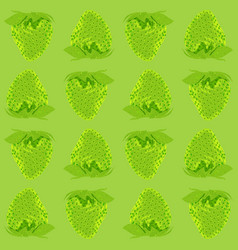 strawberry seamless pattern whole berries top vector image