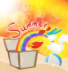summer box vector image