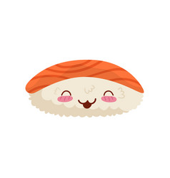 Sushi cute kawaii japan food character vector