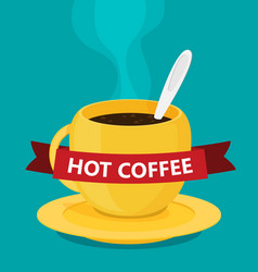 the coffee cup flat vector image