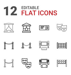 theater icons vector image