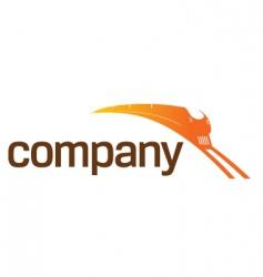 Train transportation logo vector