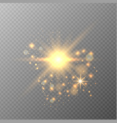 transparent effects golden light vector image