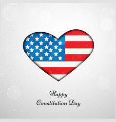 Usa constitution day vector