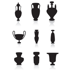 Vases bottles and urns vector