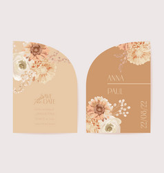 wedding floral invitation modern frame vector image