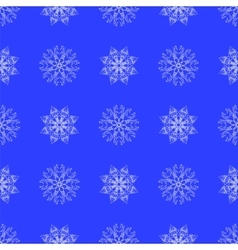 White Snowflake Seamless Pattern vector