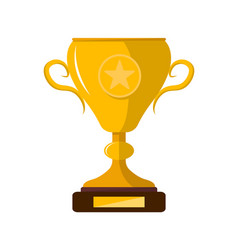 Winner trophy cup with star isolated icon vector