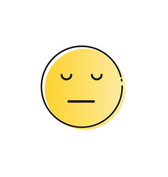 Yellow cartoon face sad negative people emotion vector