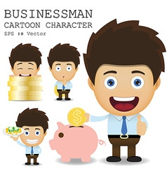 Businessman cartoon character EPS 10 vector image vector image