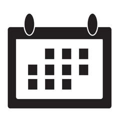 calendar icon flat design style vector image vector image