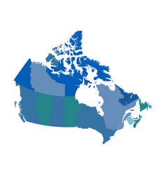 Canada political map vector