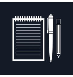 Notebook Isolated on Black Background vector image
