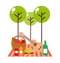 picnic concept design vector image vector image